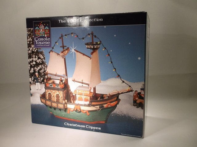 Lemax Carole Towne Christmas Clipper Boat