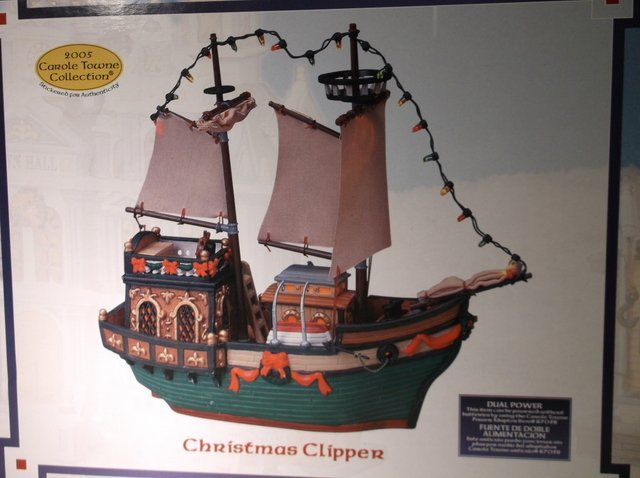 Lemax Carole Towne Christmas Clipper Boat - 2