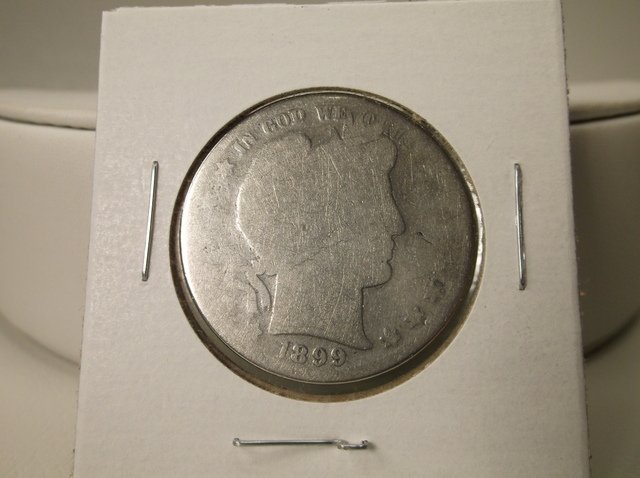 1899 US Silver Barber Half Dollar