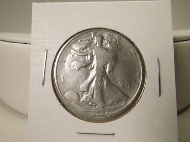 1937 US Silver Walking Liberty Half Dollar