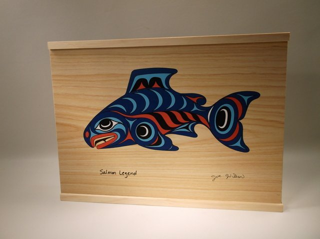 Beautiful Joe Wilson Salmon Legend Wood Box 10""