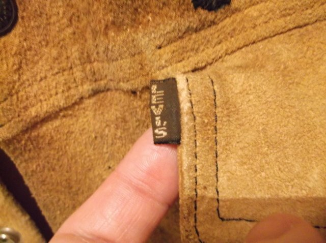 Rare 1950s Levis LSC Leather Jacket Big E Motorcycle - 3