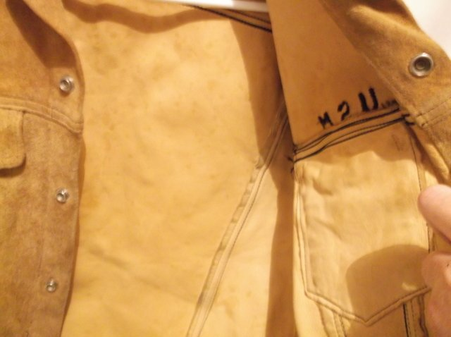 Rare 1950s Levis LSC Leather Jacket Big E Motorcycle - 6