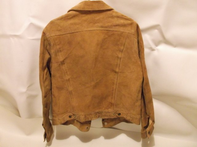 Rare 1950s Levis LSC Leather Jacket Big E Motorcycle - 7