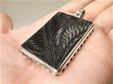 Gorgeous Huge Sterling Silver Pendant