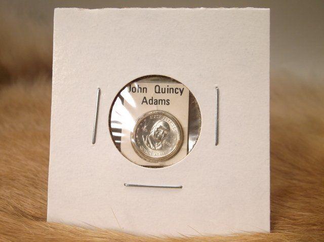 John Quincy Adams Sterling Silver Presidential coin