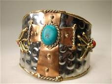 Beautiful Huge Southwestern Cuff Bracelet