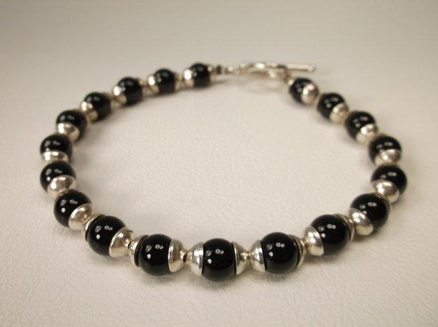 Beautiful Sterling Silver Onyx Bracelet