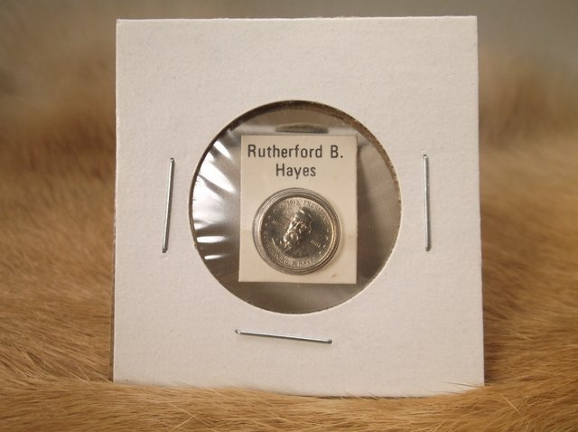 Rutherford B Hayes Sterling Silver Presidential coin