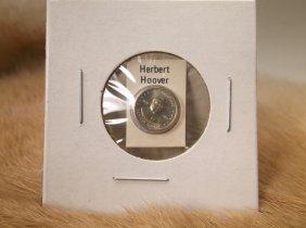 Herbert Hoover Sterling Silver Presidential Coin