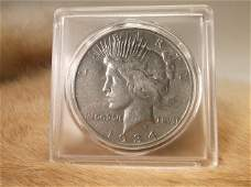 1934 D US Silver Peace Dollar
