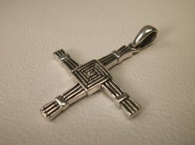 Gorgeous Sterling Silver Brigids Cross Pendant