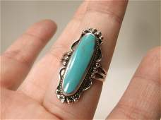 Gorgeous Sterling Silver Turquoise Ring 10