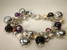 Gorgeous Super Heavy Sterling Silver Chunky Bracelet