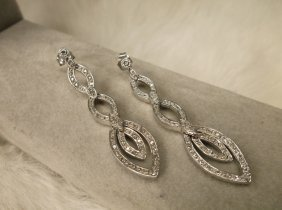 Gorg Sterling Silver Genuine Diamond Earrings