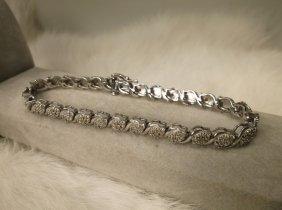 Gorgeous Sterling 44 Genuine Diamond Bracelet