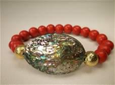 Gorgeous Genuine Abalone Bracelet