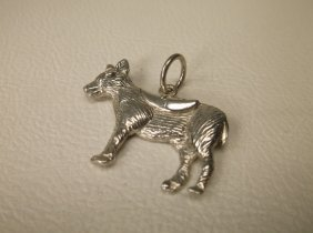 Beautiful Large Sterling Silver Donkey Charm