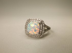 Gorgeous Sterling Silver Opal Ring 5