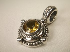 Gorgeous Sterling Silver Citrine Pendant