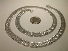 Gorgeous Heavy Sterling Silver Chain Necklace 18