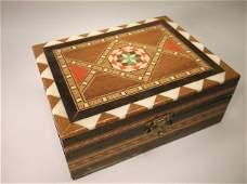 Beautiful Antique Inlaid Wood Box
