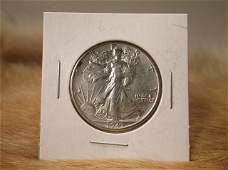 1943 S US Silver Walking Liberty Half Dollar
