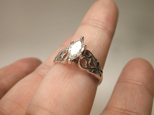 Beautiful Sterling Silver Engagement Ring 9