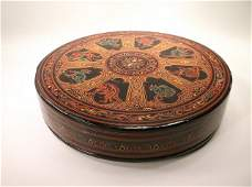 Beautiful Antique Hand Painted Wood Box