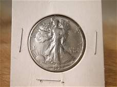 1923 S US Silver Walking Liberty Half Dollar