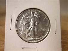 1943 US Silver Walking Liberty Half Dollar