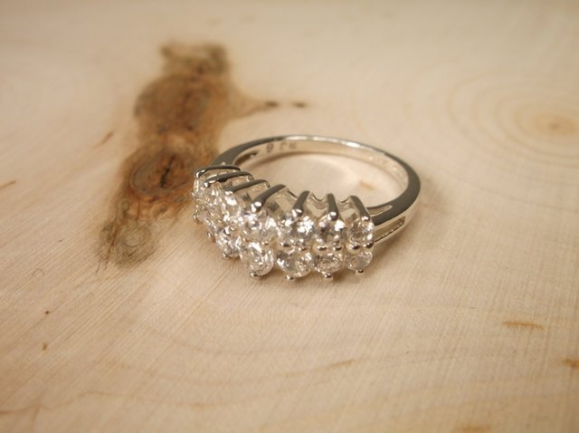 Gorgeous Sterling Silver Engagement Ring 6