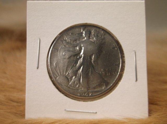 1942 US Silver Walking Liberty Half Dollar