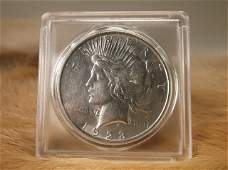 1923 D US Silver Peace Dollar