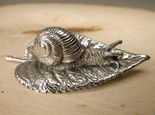 Incredible Rare Gavan Riley Sterling Snail Brooch