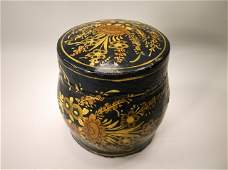 Beautiful Antique Lacquered Wood Box