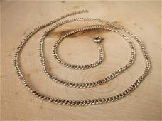 Gorgeous Antique Sterling Silver Chain Necklace 19