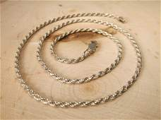 Gorgeous Sterling Silver Chain Necklace 20 Heavy