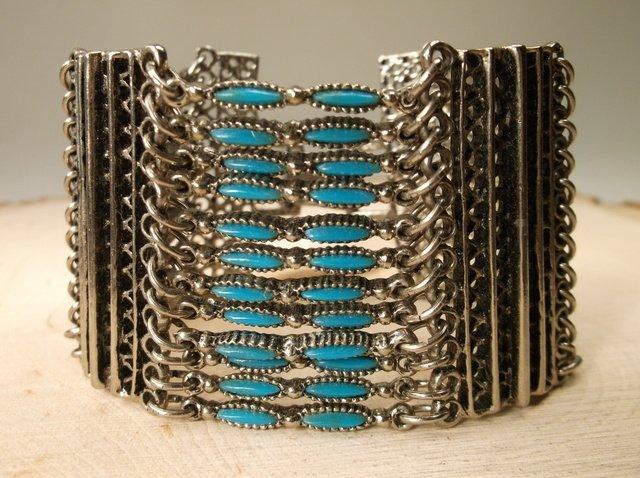 Stunning Vintage Southwestern Turquoise Bracelet