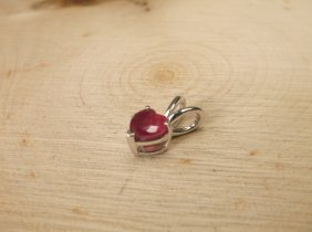 Gorgeous Sterling Genuine .75ct Ruby Pendant