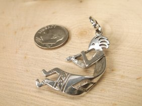 Gorgeous Navajo Sterling Flute Player Pendant