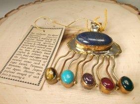 Huge Native Spiritual Harmony Turquoise Pendant