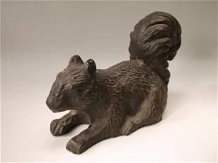 Gorgeous Cast Iron Squirrel