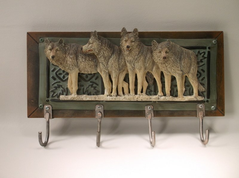 Gorgeous Wolf Pack Wall Hanger