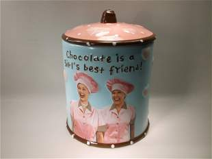Beautiful I Love Lucy Large Cookie Jar 10 Inch