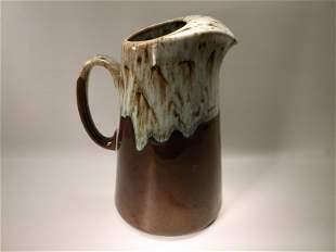 "Gorgeous Antique Salt Glazed Pottery Pitcher 10"""