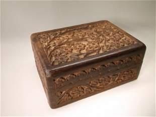 Gorgeous Ornate Antique Wood Box