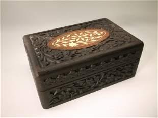 Gorgeous Antique Ornate Wood Box