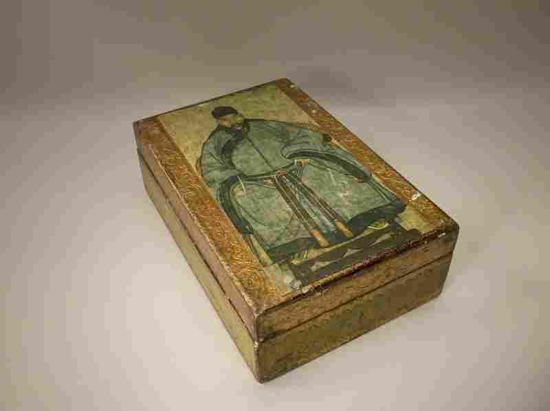 Beautiful Antique Florentia Italian Wood Box