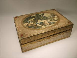 Beautiful Antique Lord & Taylor Italian Wood Box